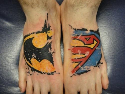 superman tattoo for women | de batman y superman batman superman tattoos