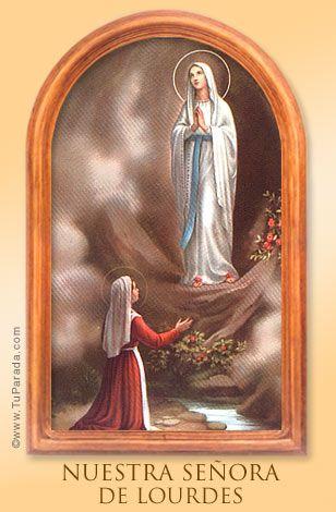 La Virgen Lourdes