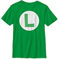 Nintendo Luigi Circle Icon Boys Graphic T Shirt