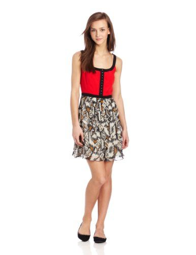 Empire waist-line  Black trim  This tribal printed dress is great for spring, with an empire waist and two-toned, you'll be turning heads