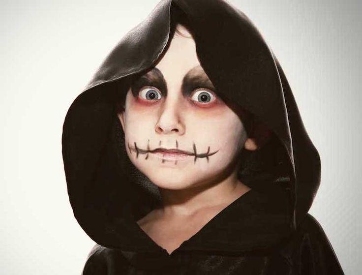 Maquillage Halloween enfant pour garçons et filles en 10 idées simples en photos | Maquillage ...