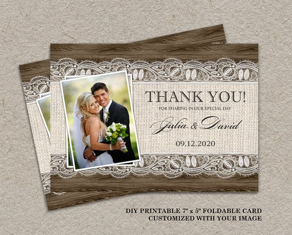 69 best images about Wedding Thank You Cards on Pinterest ...