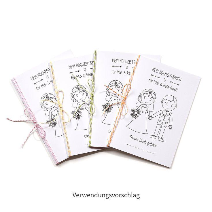Hochzeitsmalbuch Malbuch Hochzeit Kinder Beschäftigung Brautpaar Geschenk  Hochzeitsgeschenk Gastgeschenke Kindertisch Https://www.