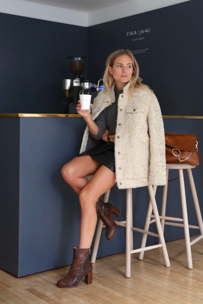 Jacket | Current Elliot Skirt | Asos Jumper | Rag & Bone Boots | Urban Outfitters Bag | Chloe Watch | Larsson & Jennings Bracelets | Lucy Williams X Missoma