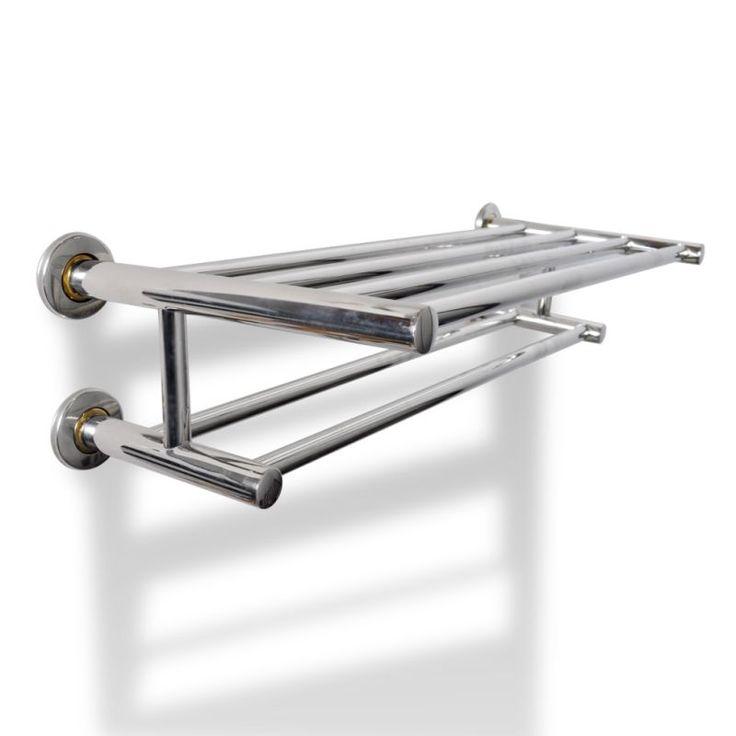 6 Rail Stainless Steel Mount Towel Rack Shelf 60cm | Buy Towel Shelves