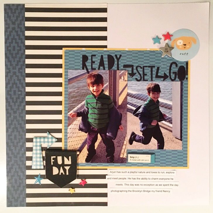 Ready set go - Crate Paper - Cool Kid Collection