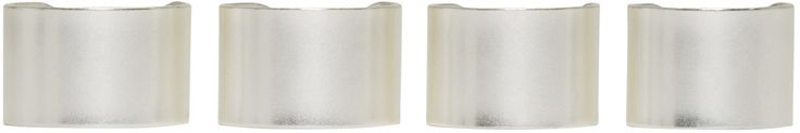 Maison Margiela - Set of four wide-band rings in polished silver-tone brass. Adjustable.