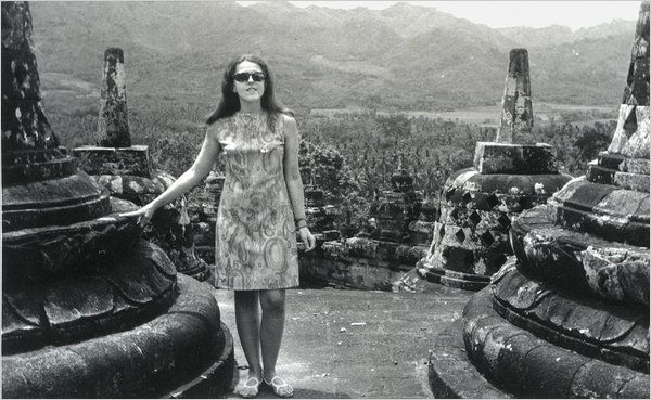 Stanley Dunham Communist | Stanley Ann Dunham at Borobudur in Indonesia, in the early 1970s.