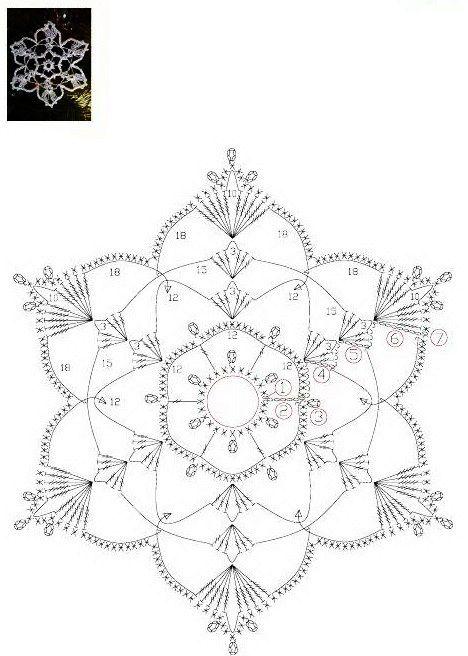 СНЕЖИНКИ...Crochet Snowflake... (http://www.liveinternet.ru/users/blistyulya/post192323588/)