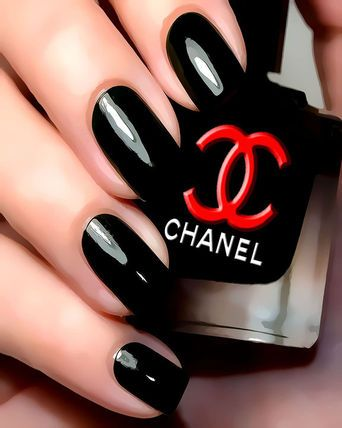 This polish is by Chanel.  I believe it is: Chanel LAQUE BRILLANCE EXTREME Shine Nail Lacquer 13 ml (High Gloss Black)