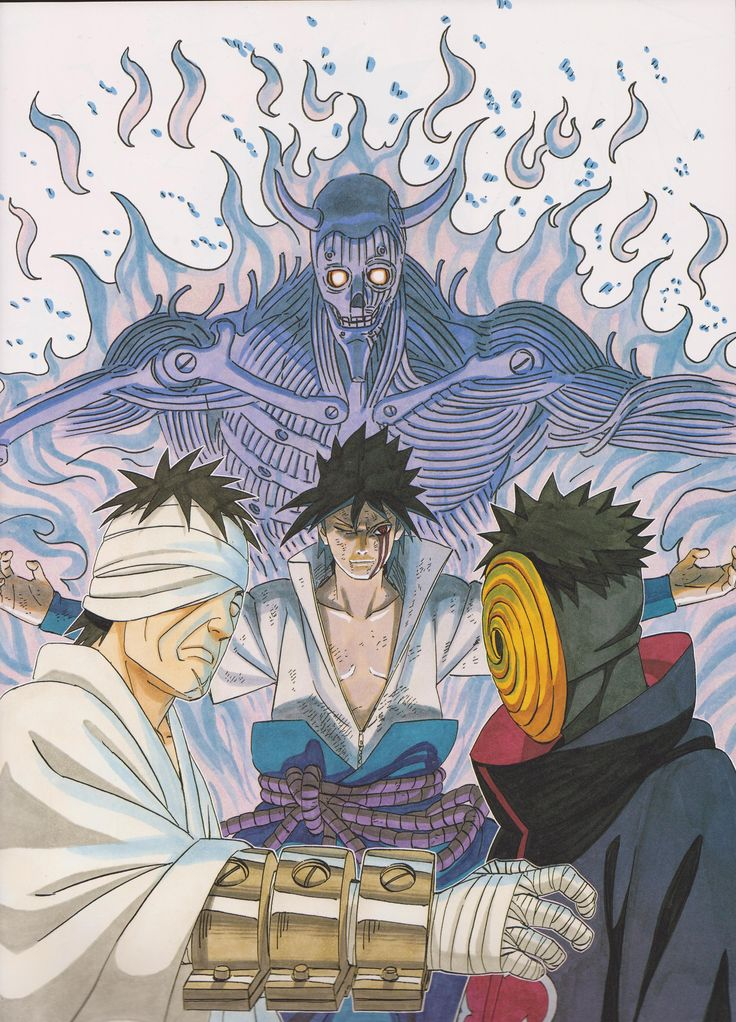 Masashi Kishimoto, Naruto, Obito Uchiha, Sasuke Uchiha, Danzou Shimura