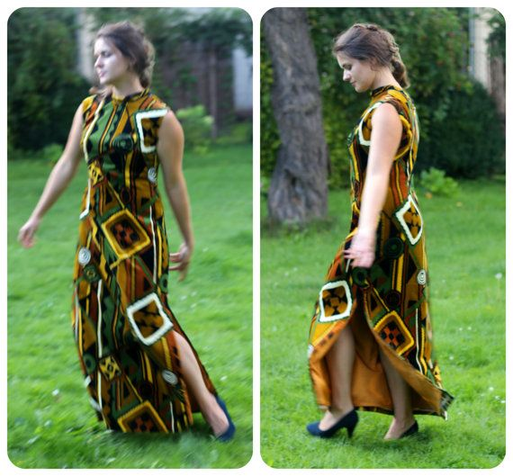 Tailor made bohemian dress from 70s boho velvet by VintagEraShop