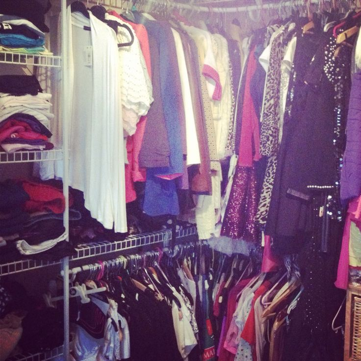 Addicted to clothes, packed out wardrobe