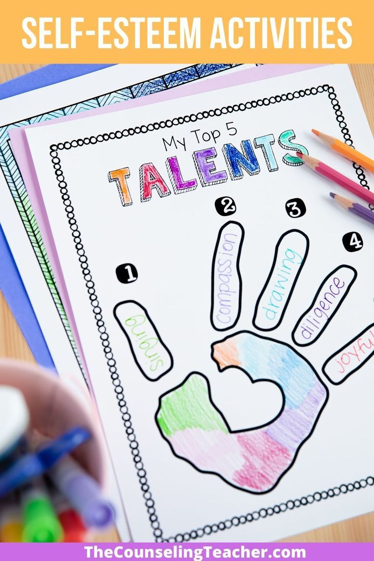 Self Esteem Activities Bundle Self Esteem Activities Mindfulness For Kids School Counselor Resources [ 1104 x 736 Pixel ]