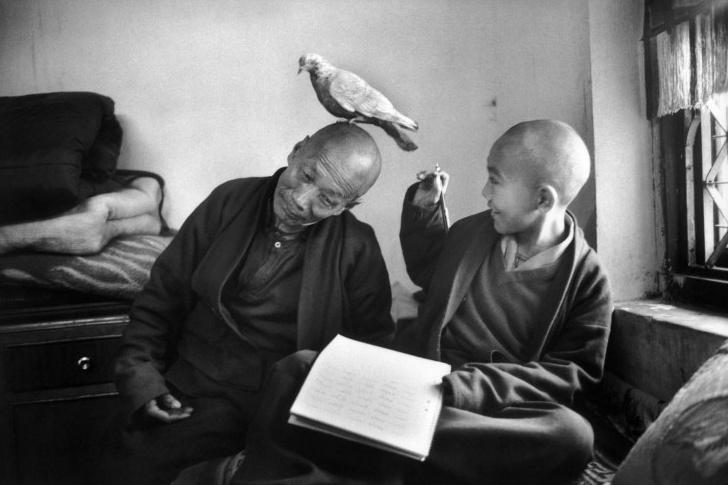 Martine Frank, monastery Nepal 1996