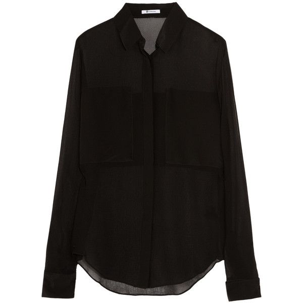 T by Alexander Wang Silk shirt ($155) ❤ liked on Polyvore