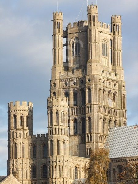 """""""Ship of the Fens,"""" West Tower, Ely Cathedral, Cambridgeshire, England ~ 11th century Norman stone architecture"""