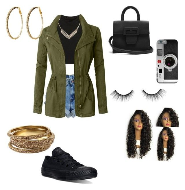 """Untitled #518"" by nubianprincess1999 ❤ liked on Polyvore featuring Converse, Amrita Singh, LE3NO, Maison Margiela and tarte"