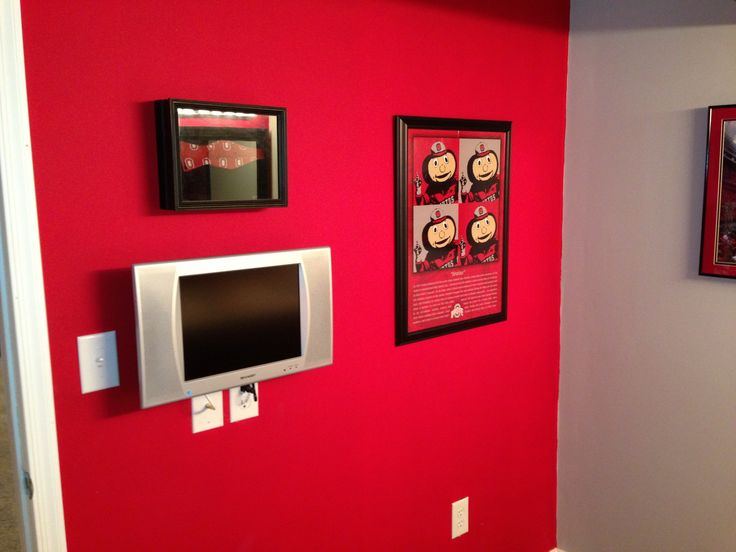 17 best images about ohio state basement on pinterest for Can you put a tv in the bathroom
