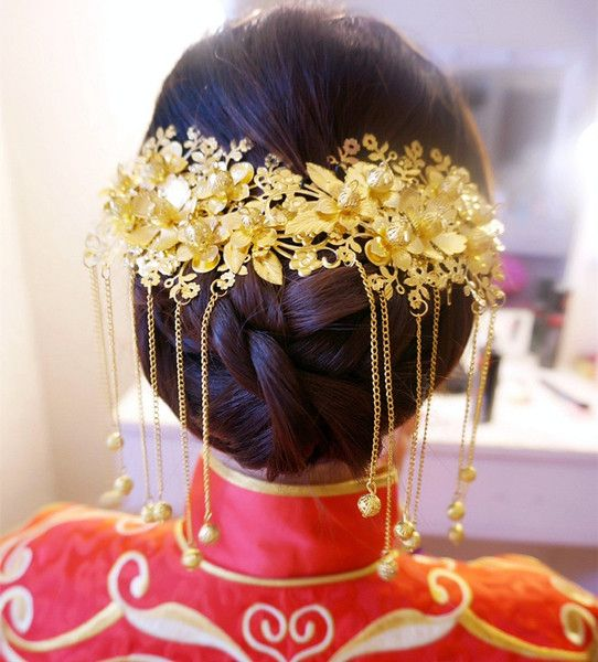 新娘结婚古装中式头饰古典秀和服龙凤褂配饰品旗袍礼服首饰套装