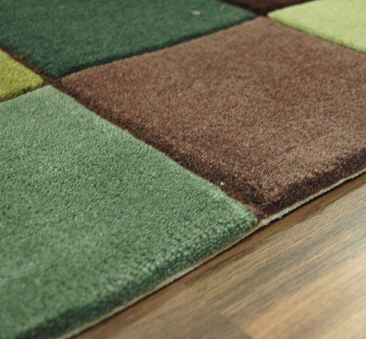 Ed 10 Pixel Green Brown Rugs Online At Modern Uk