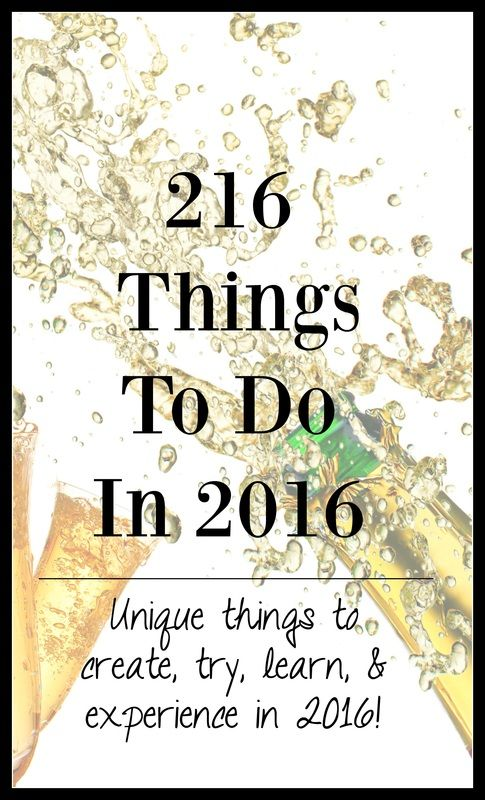 2016 New Year Resolutions