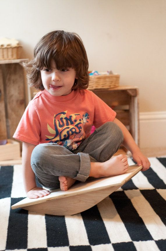 Balance Board Wood Toy Modern Toy Wooden Toy by CloverandBirch