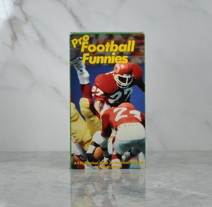 Pro Football Funnies 1987 VHS Tape Halcyon Days Productions