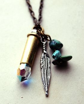 bullet shell jewelry - diy and mix the elements. LOVE THIS IDEA!! Need to make something like this!