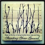 Stand your ground Pallet Art. 50cmx50cm or 1mx1m
