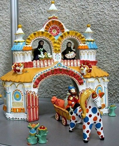 Easter image of Dymkovo toys