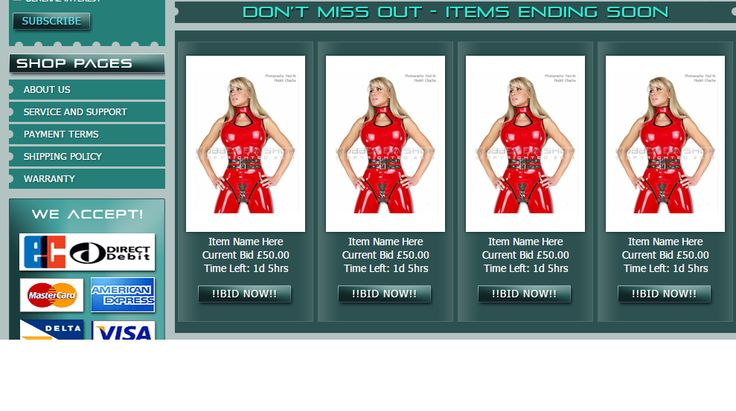 We just delivered a custom #BigCommerce design for #Rubber Eva! Check out the #clothing and rubber #catsuits here:
