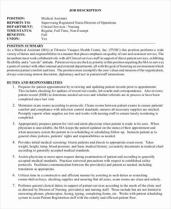 Lab Assistant Job Description Resume Luxury 10 Medical Assistant Job Description Templat Medical Assistant Job Description Nurse Job Description Assistant Jobs