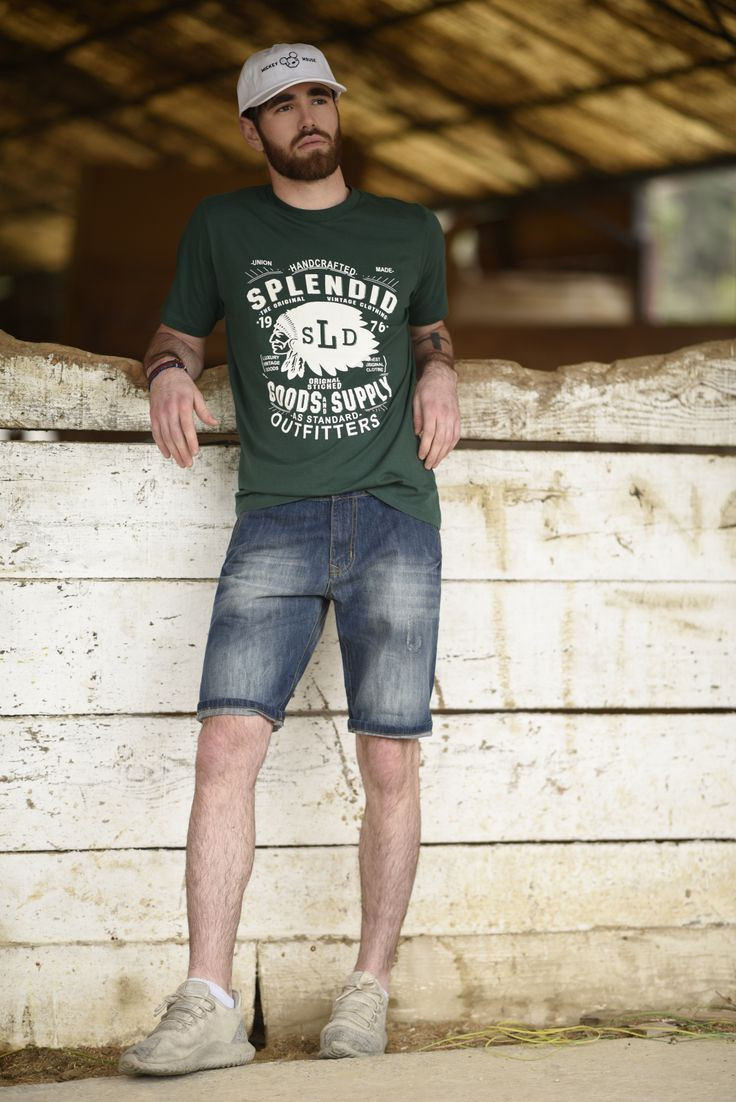 Splendid SS 2018 collection t- shirts and denim bermuda shorts.