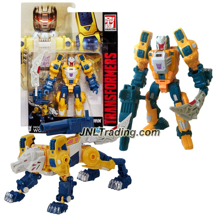 Hasbro Year 2015 Transformers Titans Return Series 5-1/2 Inch Tall Robot Figure - MONXO & WOLFWIRE with Sword, Blaster & Card (Beast: Wolf)