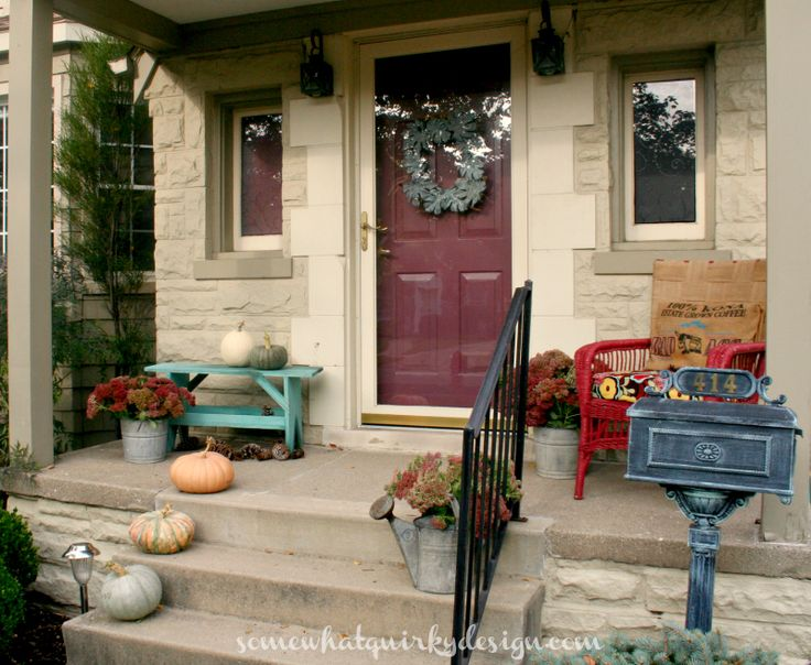 A Simple Fall Porch. & 38 best front stoops images on Pinterest | Gardens Front doors ... pezcame.com
