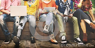 Teenagers Young Team Together Cheerful Concept - Download From Over 50 Million High Quality Stock Photos, Images, Vectors. Sign up for FREE today. Image: 58366699
