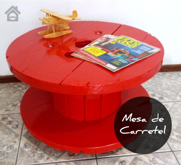 Mesa Carretel - Faça você mesmo! - Homens da Casa