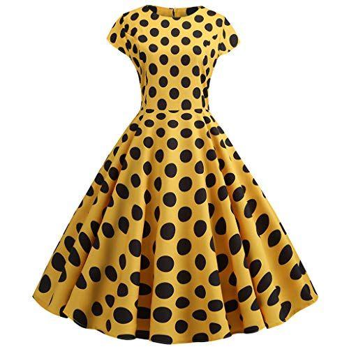 d0860f8d23 Momoxi Vestito Abito Lungo Elegante Donna Sera da Donna Vintage da ...