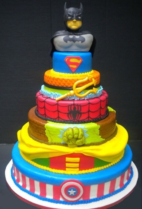 Comic cake: Super Heroes Cake, Grooms Cake, Super Heros, Super Hero Cakes, Superheroes, Wedding Cake, Awesome Cake, Superhero Cake, Birthday Cakes