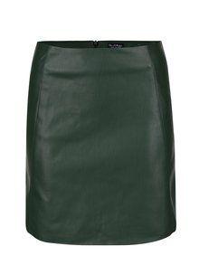 Obrázek Tmavě zelená koženková sukně Miss Selfridge
