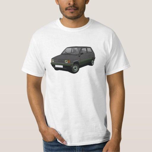 Fiat Panda 30/45 Mk1 (Tipo 141) Black T-shirt  #fiat #fiatpanda #tshirt #italia #italy #panda #thirts #80s #black