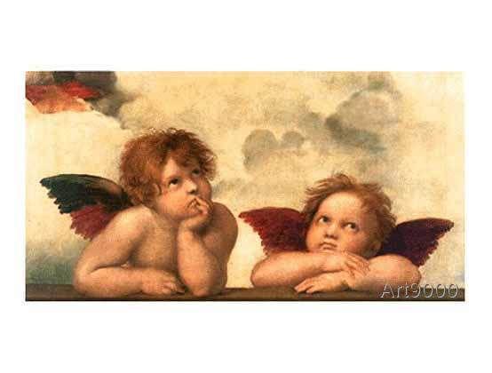 Raphael - La Madone Sixtine (détail)