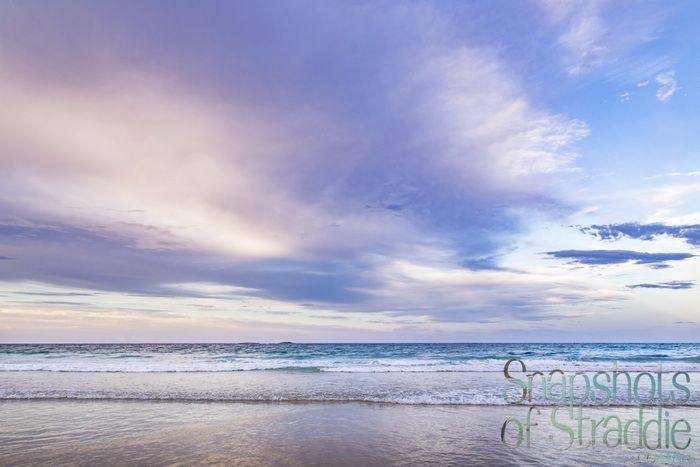 The beach, the clouds and the full moon - Pastels @ Home Beach North Stradbroke Island - The beach, the clouds and the full moon rising - peace, quiet, a cooling ocean breeze, and solitude @ Home Beach North Stradbroke Island