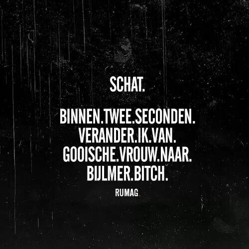 Van Gooische vrouw naar Bijlmer bitch