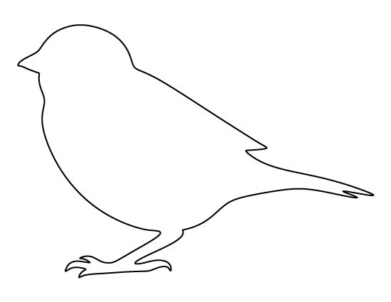 Sparrow pattern use the printable outline for crafts for Bird templates to cut out