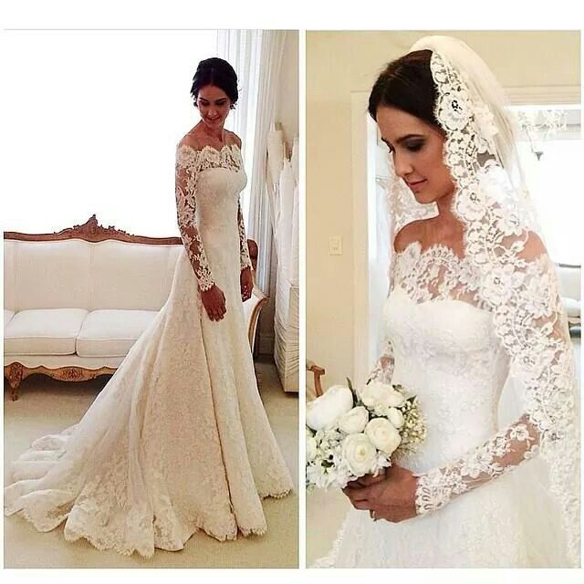 Traumhaftes Brautkleid aus spitze
