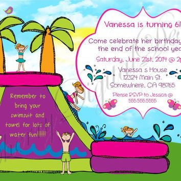 22 best pool party invitation ideas images on pinterest, Party invitations