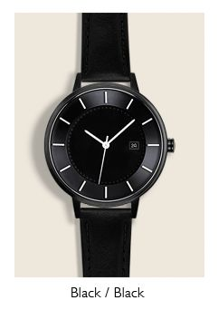 Linjer watch - black
