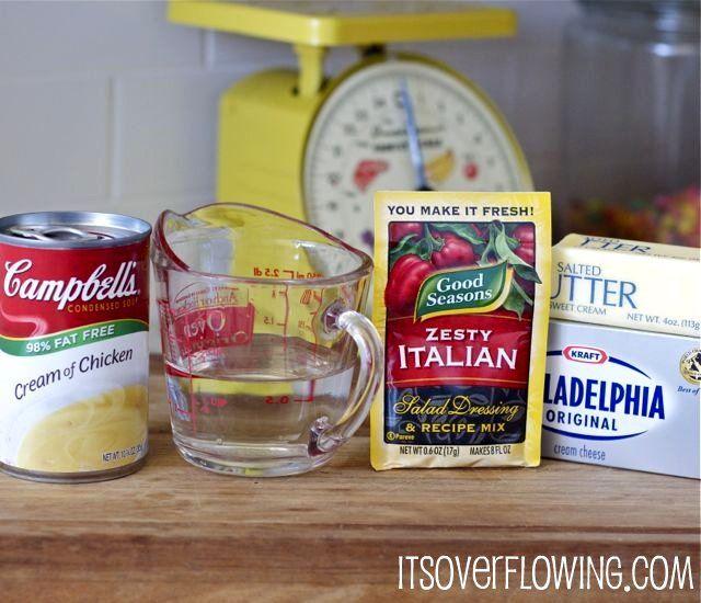 Simple 5 Ingredient Recipe {Crockpot Creamy Italian Chicken}